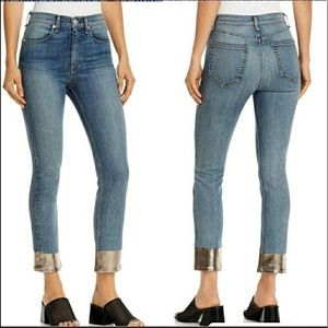 rag&bone High Waisted Ankle Cigarette Jeans